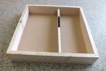Krmítko dřevěné pro celodřevěný nástavek 39x24 (2 cm)