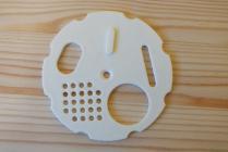 Kruhový česnový uzávěr - bílý (80 mm)