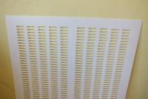 Mateří mřížka bílá- plast - 400 x 400 mm