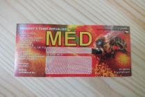 Samolepící etiketa - med (červená)