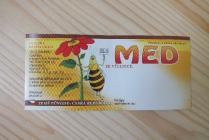 Samolepící etiketa - med (kreslená včelka)