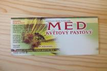 Samolepící etiketa - med (květový pastový)