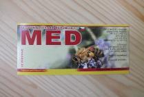 Samolepící etiketa - med (med se včelou)