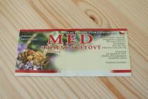 Samolepící etiketa - med (smíšený květový)