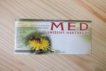 Samolepící etiketa - med (smíšený nekt. zelená)